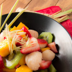 Fruit Salad with Ginger Lemongrass Syrup