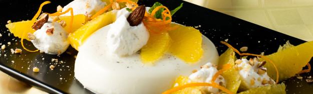 Orange Scented Vanilla Bean Panna Cotta