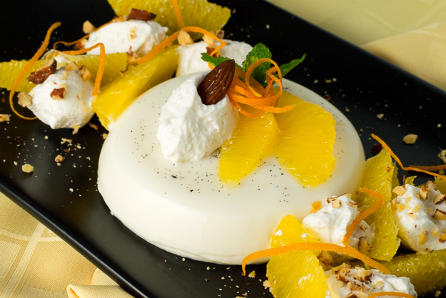 Orange Scented Vanilla Bean Panna Cotta