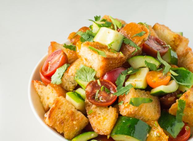 Thai Sweet Chili Panzanella Salad