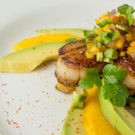 Scallops with Avocado Mango Salsa