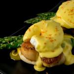 Scallops Eggs Benedict with Citrus Hollandaise