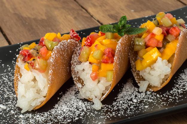 Fruit Dessert Tacos