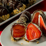 Chocolate and Cheesecake Coated Strawberries