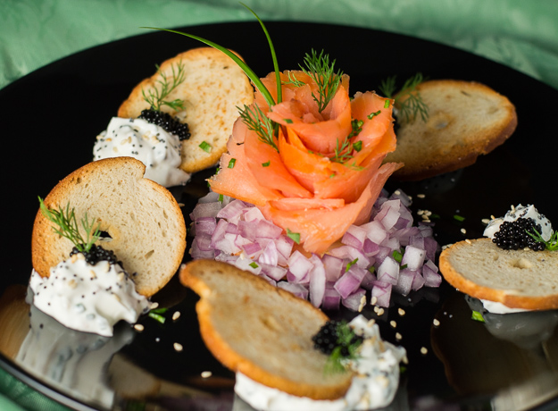 Deconstructed Bagel and Lox