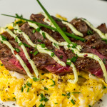 Cheddar Chive Steak and Eggs