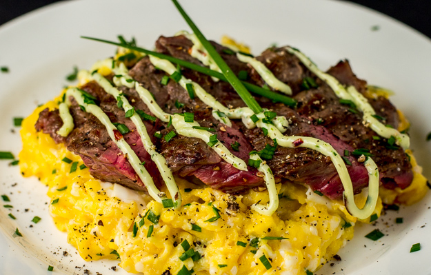 Chive Steak and Eggs