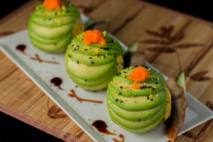 "Dragon Roll ""Eggs"""