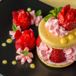 Strawberry Rose Macaron