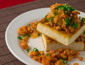 Seared Tofu with Korean Mince