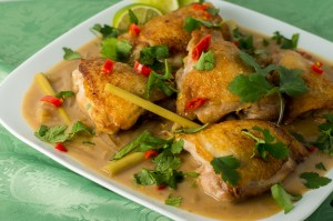 Chicken Thighs in Lemongrass Sauce
