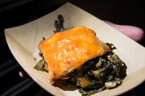 "Griddled ""Yard Bird"" w/ Braised Greens & Habanero Sause"
